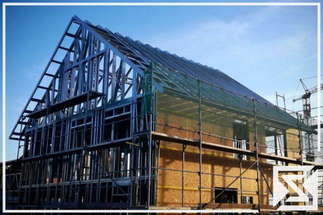 Einfamilienhaus Architektenhaus enggraph egsol rohbau stahlblechprofilbau