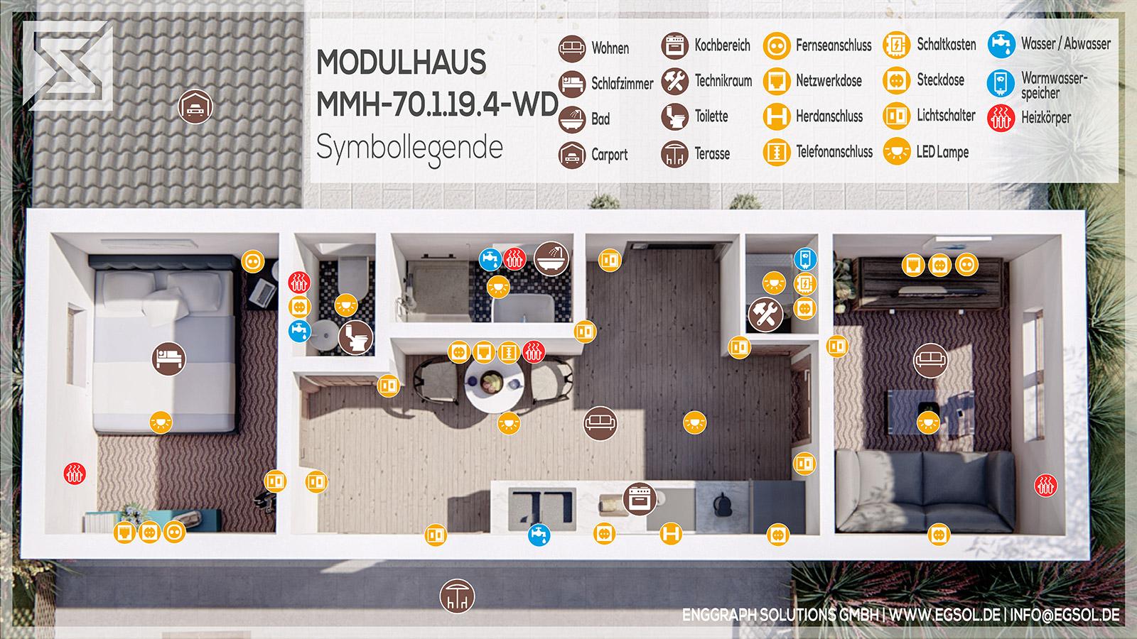 Modulhaus Grundriss-Interieur MMH.70.1.19.4