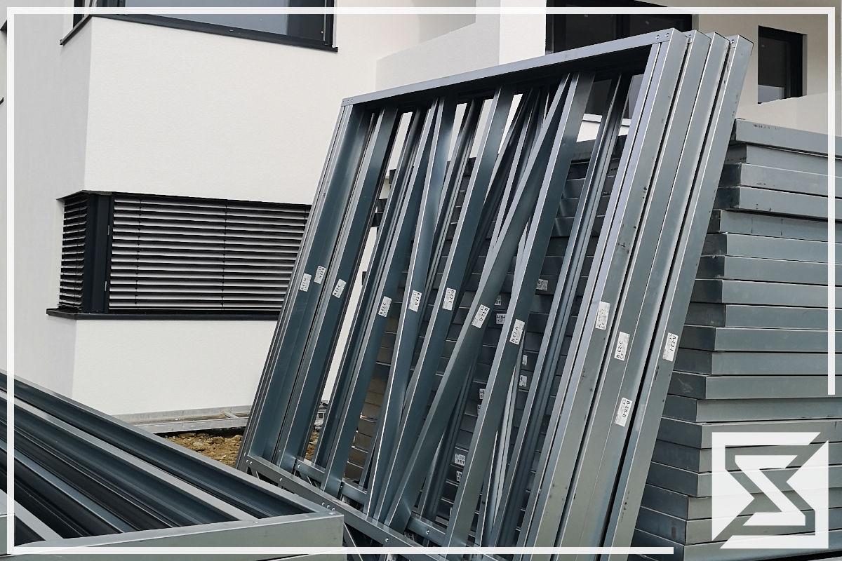 Stahlblechprofilhaus Leichtbauprofilhaus EngGraph Wandelement
